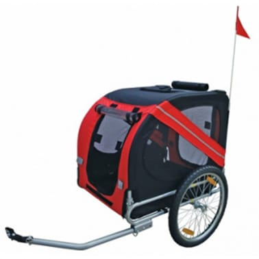 vidaXL Dog Bike Trailer Rex Red[2/3]