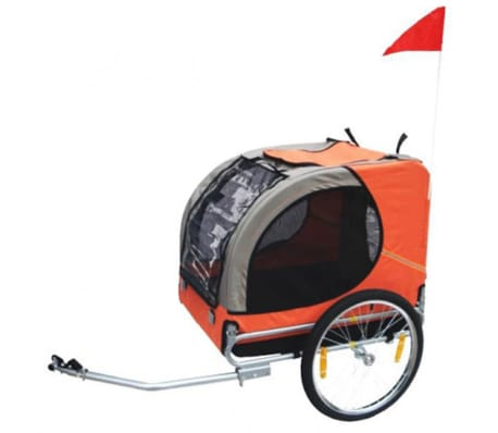 vidaXL Dog Bike Trailer Lassie Orange[1/3]