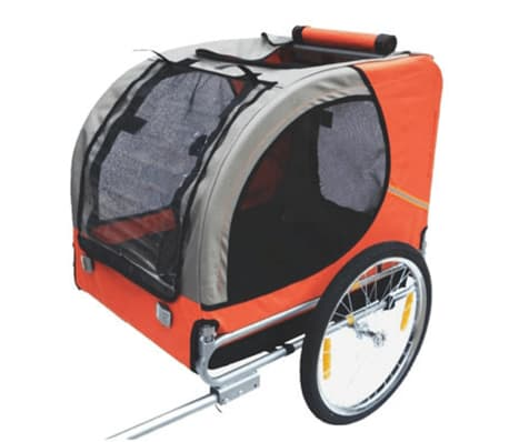 vidaXL Dog Bike Trailer Lassie Orange[2/3]