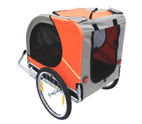 vidaXL Dog Bike Trailer Lassie Orange[3/3]
