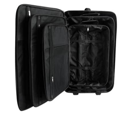 5 Piece Travel Luggage Set Black[3/4]