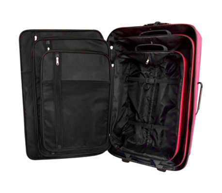 vidaXL Five Piece Travel Luggage Set Red[2/5]