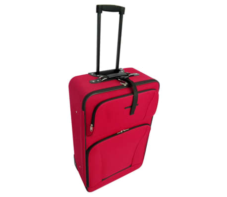5 Piece Travel Luggage Set (Red)[3/5]
