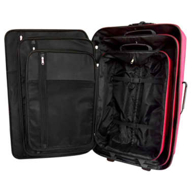 5 Piece Travel Luggage Set (Red)[2/5]