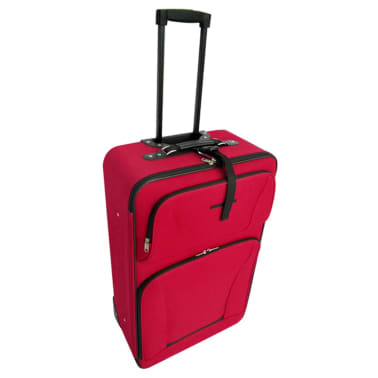 vidaXL Five Piece Travel Luggage Set Red[3/5]