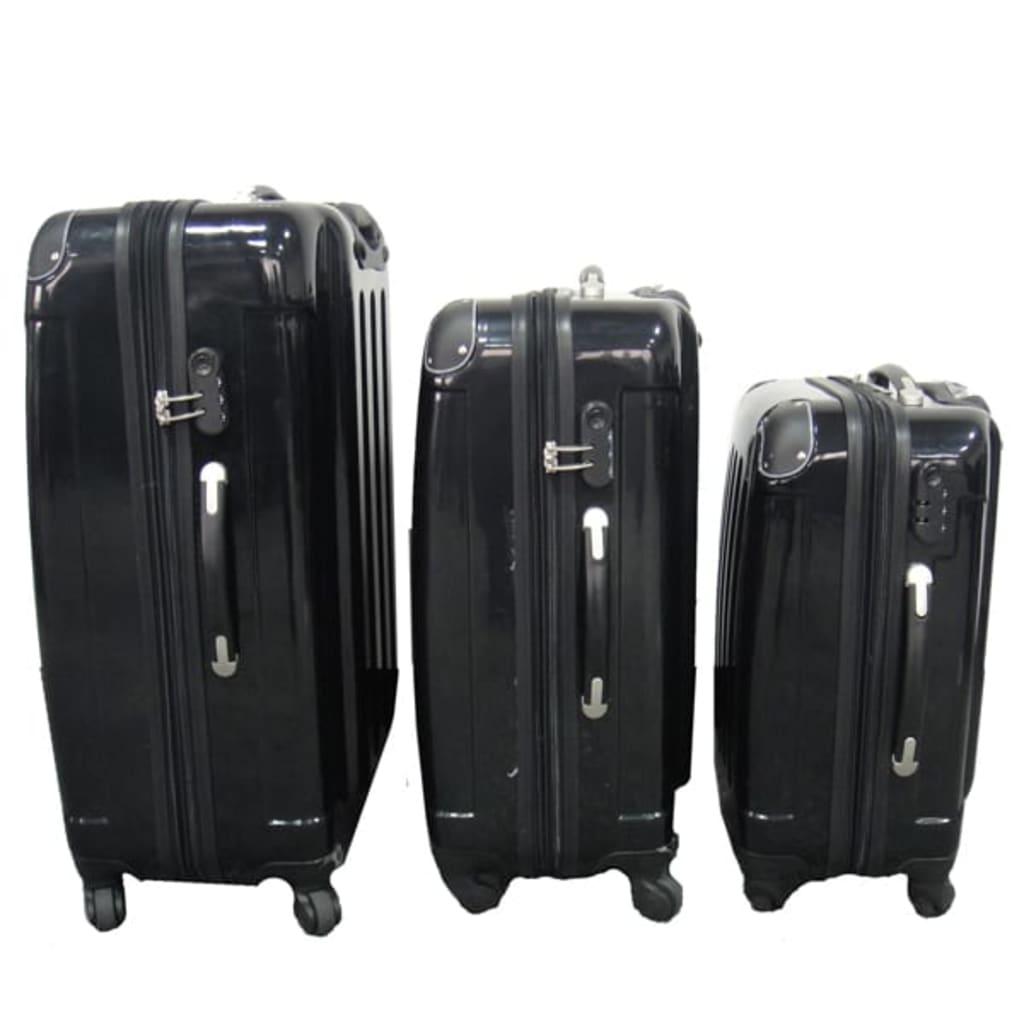 Set 3 kufrů na kolečkách Spinner, černý