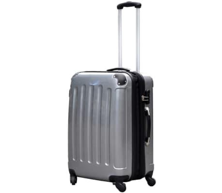 3 piezas set de equipaje gris plástico[2/9]