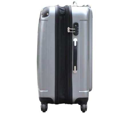 3 piezas set de equipaje gris plástico[3/9]