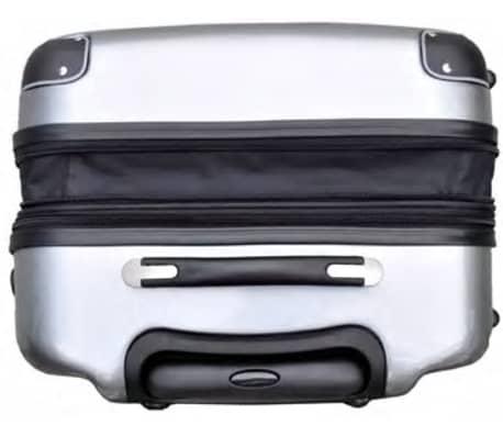 3 piezas set de equipaje gris plástico[4/9]