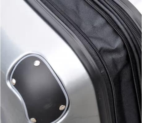 3 piezas set de equipaje gris plástico[7/9]