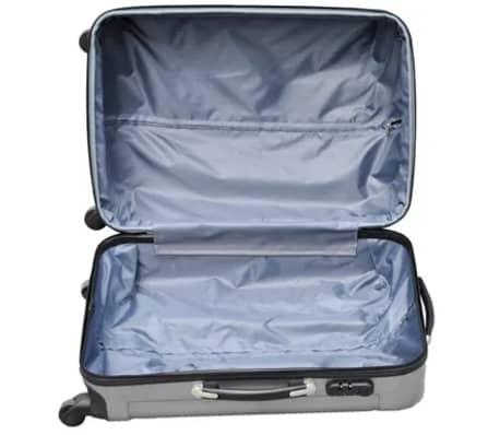 3 piezas set de equipaje gris plástico[9/9]