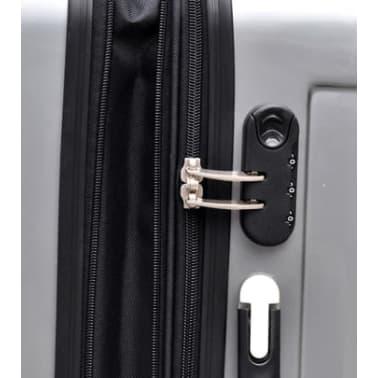 3 piezas set de equipaje gris plástico[5/9]