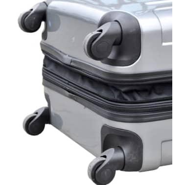 3 piezas set de equipaje gris plástico[6/9]