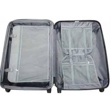 3 piezas set de equipaje gris plástico[8/9]