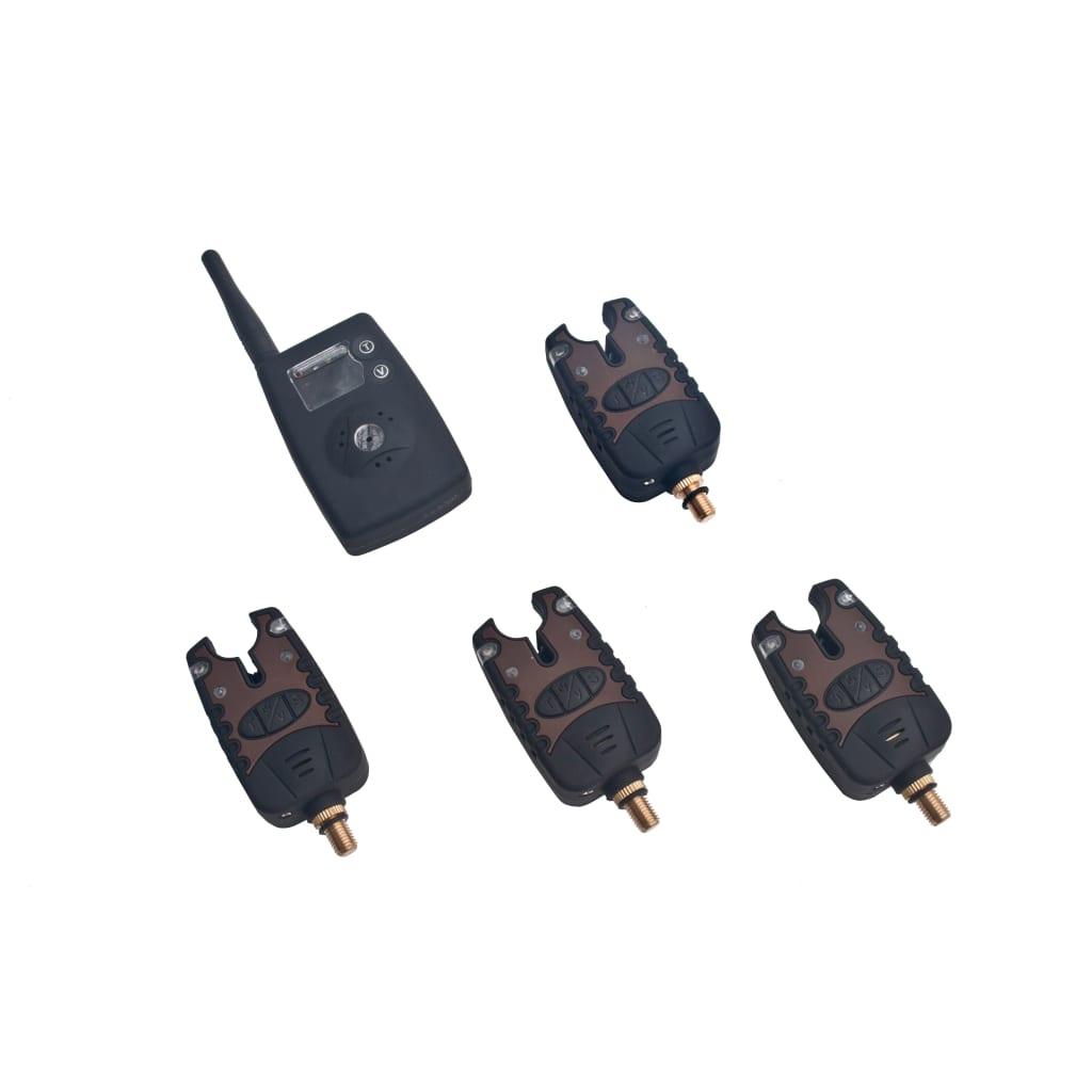 Afbeelding van vidaXL 4 draadloze LED beetverklikkers met ontvanger in koffer