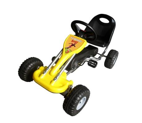 vidaXL Pedal Go Kart Yellow[1/3]