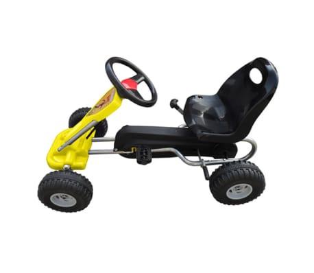 vidaXL Pedal Go Kart Yellow[2/3]