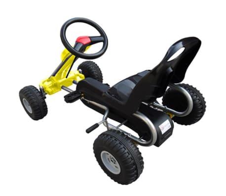 vidaXL Pedal Go Kart Yellow[3/3]