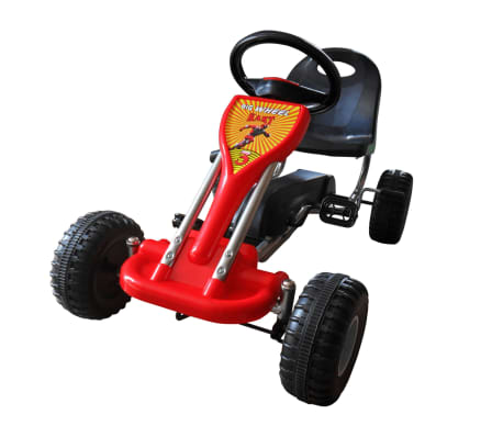 vidaXL Kart cu pedale Go Kart, roșu[1/3]