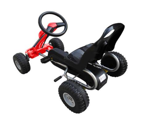 vidaXL Kart cu pedale Go Kart, roșu[3/3]