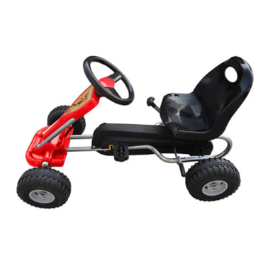 vidaXL Kart cu pedale Go Kart, roșu[2/3]