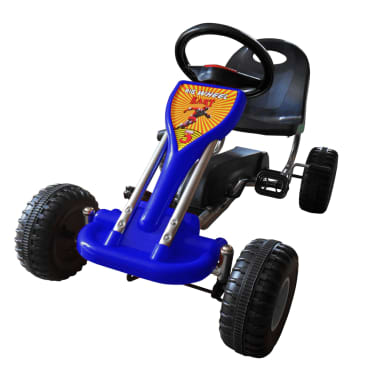 vidaXL Kart cu pedale Go Kart, albastru[1/3]