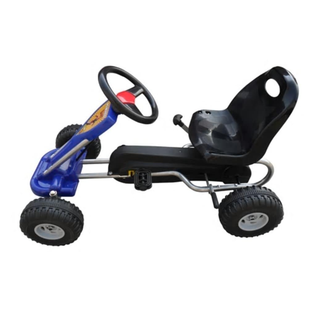 Gokart na pedale modre barve
