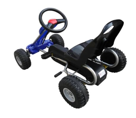 vidaXL Kart cu pedale Go Kart, albastru[3/3]