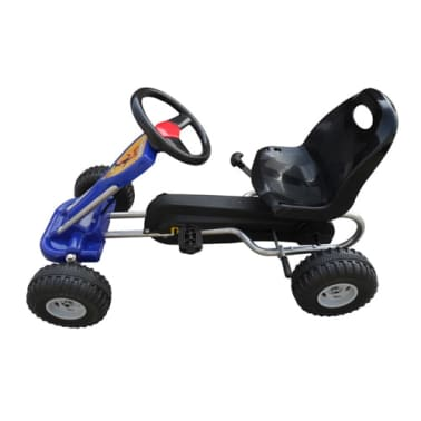 vidaXL Kart cu pedale Go Kart, albastru[2/3]