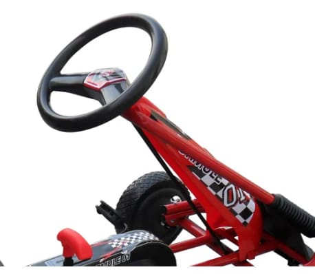 Red Pedal Go Kart with Adjustable Seat[4/5]