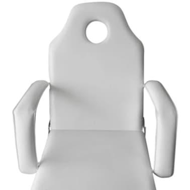 Стол за процедури с регулируема облегалка и поставка за крака, бял[5/6]