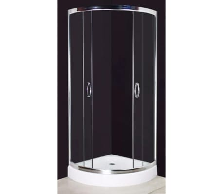 cabine de douche ronde 80 cm ch ssis en aluminium. Black Bedroom Furniture Sets. Home Design Ideas
