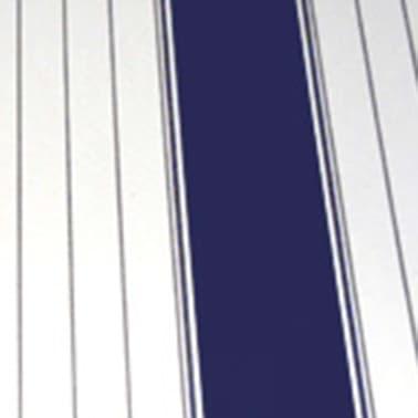 vidaXL Luifeldoek 4x3 m canvas blauw en wit[3/3]