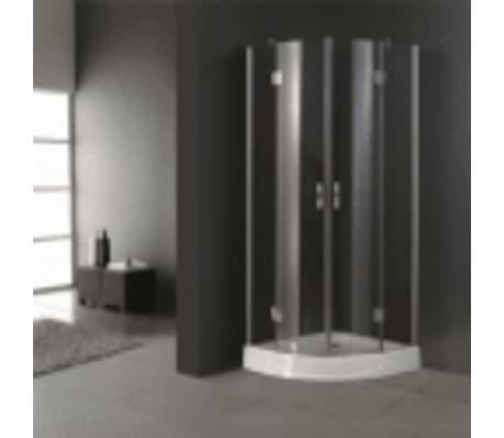 duschkabine inkl duschwanne halbrund 100 x 100 x 199 cm im vidaxl trendshop. Black Bedroom Furniture Sets. Home Design Ideas