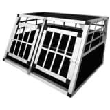 vidaXL Transporter za Pse S Dupla Vrata Aluminij