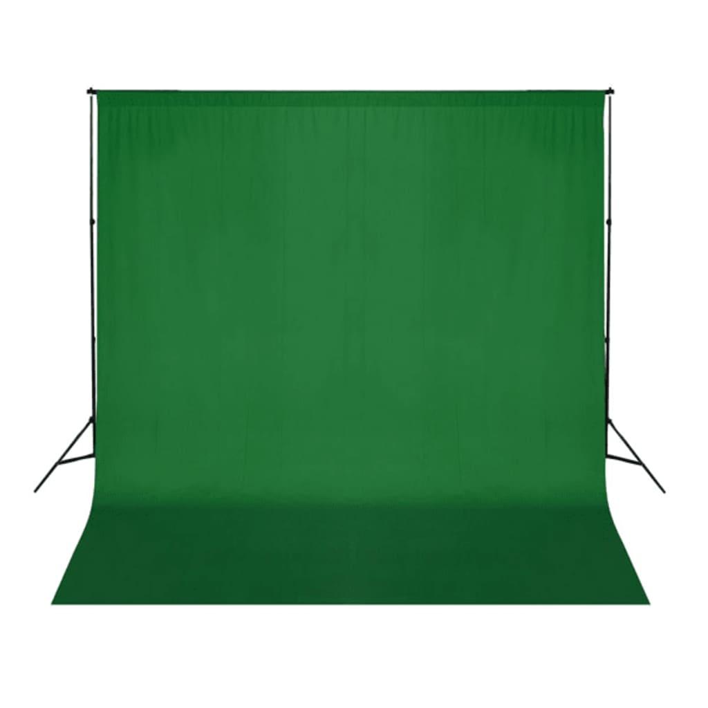 vidaXL Achtergrond chromakey 300x300 cm katoen groen