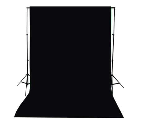 vidaXL Achtergrond 300x300 cm katoen zwart[4/4]
