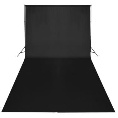vidaXL Toile de fond Coton Noir 300 x 300 cm[2/4]