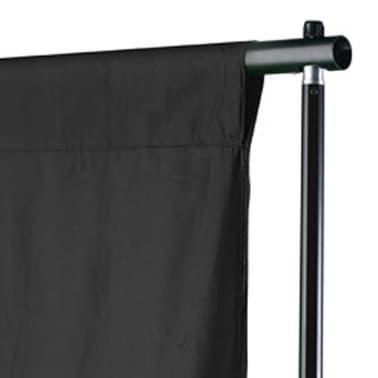 vidaXL Toile de fond Coton Noir 300 x 300 cm[3/4]