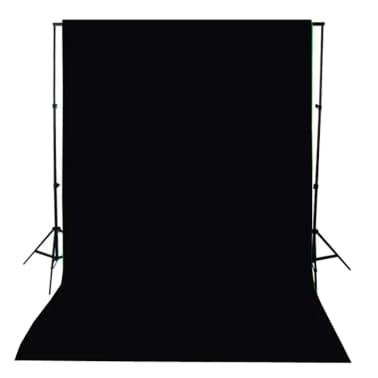 vidaXL Toile de fond Coton Noir 300 x 300 cm[4/4]