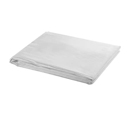 vidaXL Backdrop Cotton White 10 x 10 feet[1/4]