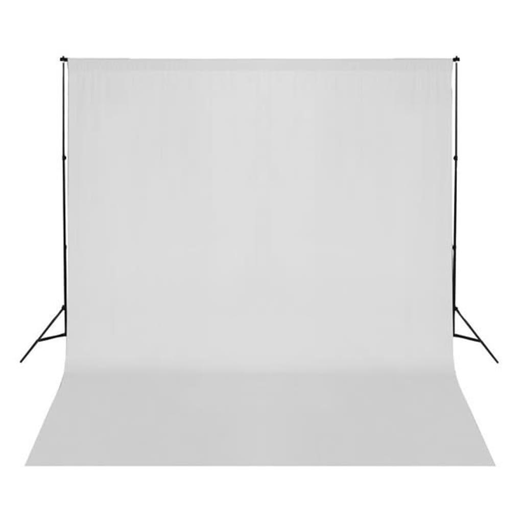 vidaXL Achtergrond 300x300 cm katoen wit