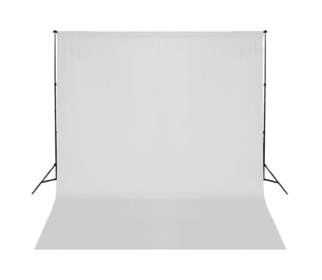 vidaXL Backdrop Cotton White 10 x 10 feet[2/4]