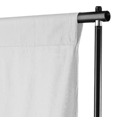 vidaXL Backdrop Cotton White 10 x 10 feet[3/4]