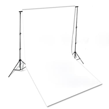 vidaXL Backdrop Cotton White 10 x 10 feet[4/4]