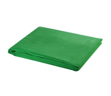 """vidaXL Medvilninis fonas, žalias, 500x300 cm, """"chroma key"""""""