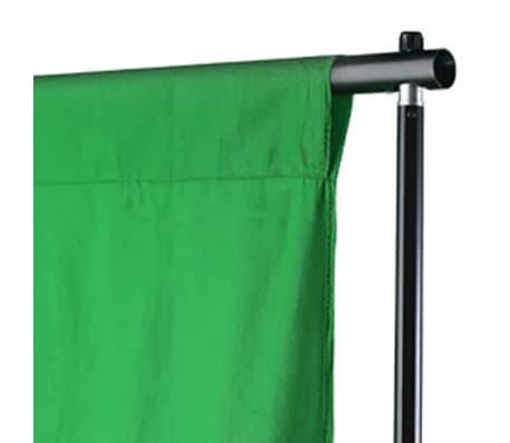 vidaXL Achtergrond chromakey 500x300 cm katoen groen[3/4]