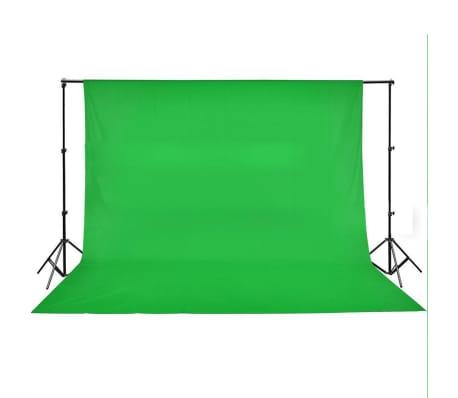 vidaXL Toile de fond Coton Vert 500 x 300 cm Incrustation[4/4]