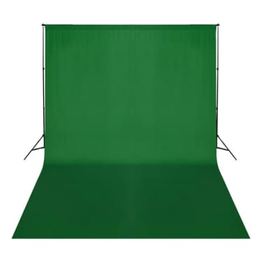 vidaXL Toile de fond Coton Vert 500 x 300 cm Incrustation[2/4]