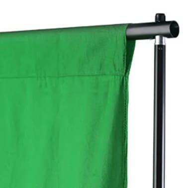 vidaXL Toile de fond Coton Vert 500 x 300 cm Incrustation[3/4]